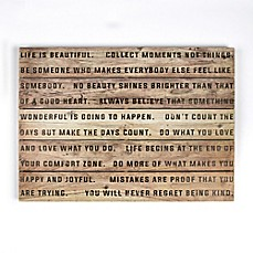 image of Life is Beautiful 28-Inch x 20-Inch Wood Wall Art