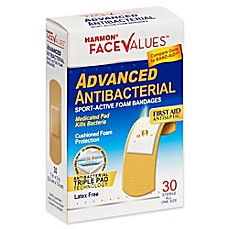 image of Harmon® Face Values® 30-Count 1-Inch Advanced Antibacterial Sport-Active Foam Bandage