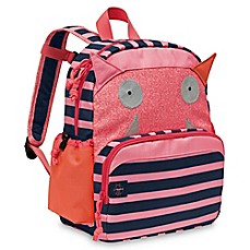 image of Lassig Little Monsters Mad Mabel Medium Backpack in Pink/Blue