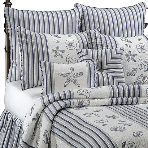 Seaside Stripe Quilt 100 Cotton Bed Bath Beyond
