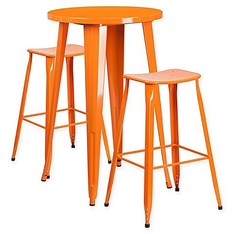 Buy Flash Furniture 3 Piece 24 Inch Round Metal Bar Table
