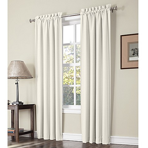 Sun Zero Perez Thermal Lined Rod Pocket Window Curtain