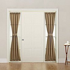 Sun Zero Bella 72 Inch Rod Pocket Room Darkening Sidelight Door Panel