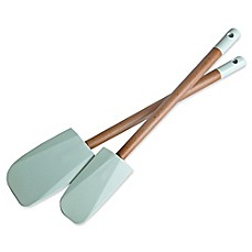 image of Jamie Oliver Spatula in Natural/Blue (Set of 2)