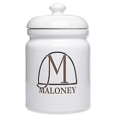 image of Monogram Elegance Cookie Jar