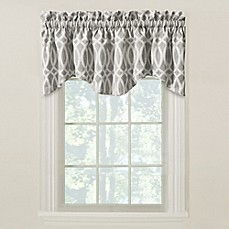 medium navy carousel designs woodland gray and tab top window valance
