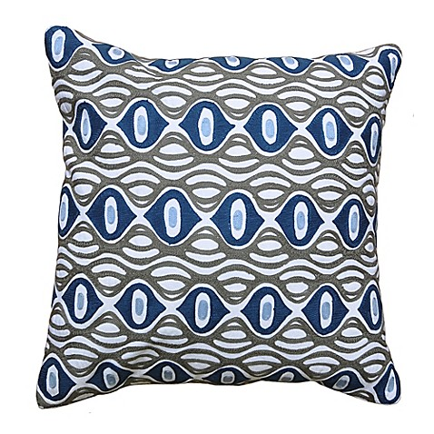 amity home mia square throw pillow in grey blue bed bath beyond. Black Bedroom Furniture Sets. Home Design Ideas