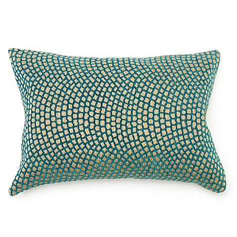 Amity Home Cello Oblong Throw Pillow in Blue/Gold - Bed Bath & Beyond
