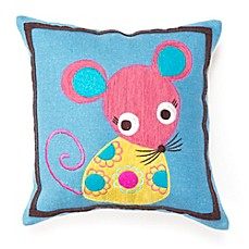 image of Amity Home Wool Mouse Square Throw Pillow