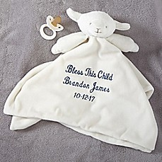 image of Lamb Baby Blankie in Ivory