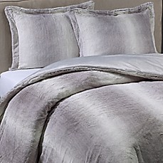 image of Nero Faux Fur Comforter Set