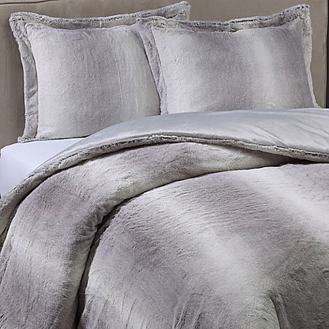 products faux o queen ombre throw west gray fur elm comforter
