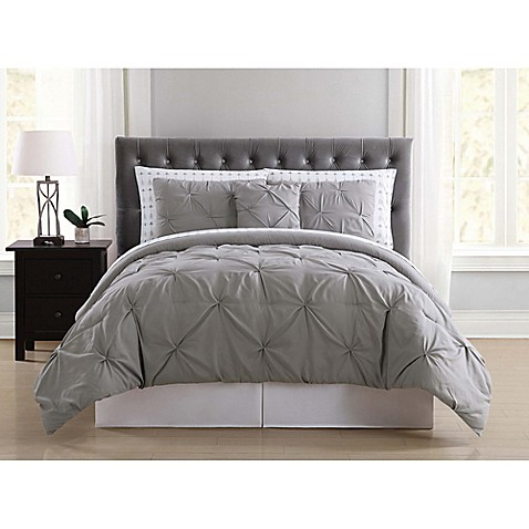 Truly soft arrow pleated comforter set bed bath beyond - Bed bath and beyond bedroom furniture ...