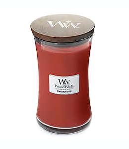 Vela en vaso de vidrio Cinammon Chai WoodWick® de 623.69 g