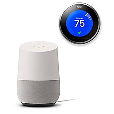 image of Google Home and Nest® Thermostat Bundle in White