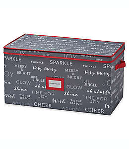 Caja para almacenar 96 adornos navideños Real Simple®