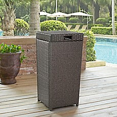 image of Crosley Palm Harbor Outdoor Wicker Trash Bin