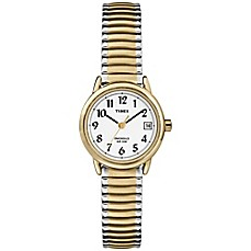 image of Timex® Easy Reader® Ladies' 25mm Watch in Two-Tone Stainless Steel with Expansion Band
