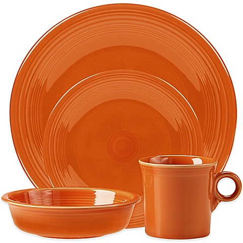 Fiesta® 4-Piece Place Setting in Tangerine