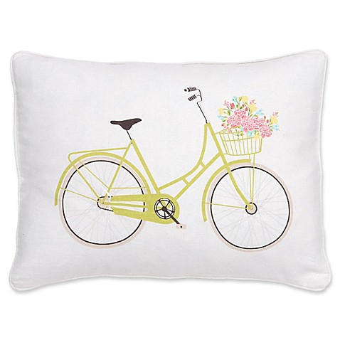 Levtex Home Juliet Bicycle Oblong Throw Pillow in White - Bed Bath & Beyond