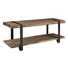 image of Modesto Metal and Reclaimed Wood Entryway Bench
