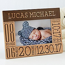 image of Baby Love Birth Info Picture Frame