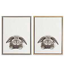 image of Designovation Sylvie Rabbit Framed Canvas Wall Art