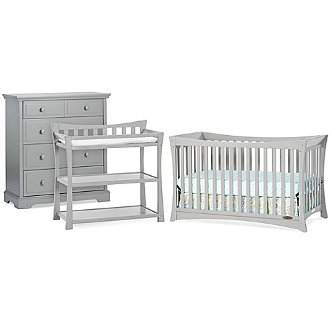 Child Craft Parisian Nursery Furniture Collection In Cool Grey Bed Bath Beyond