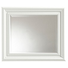 image of placid wall mirror in white