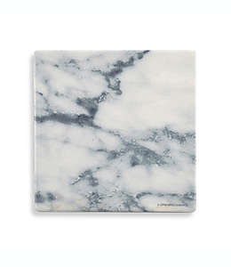 Portavasos cuadrado con diseño de mármol Thirstystone® en azul y blanco
