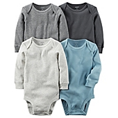 image of carter's® 4-Pack Long Sleeve Bodysuits