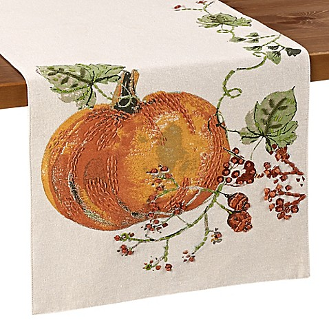 Pumpkin Berries Table Runner Bed Bath Amp Beyond