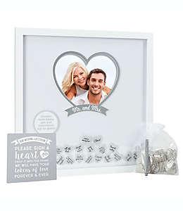 Pearhead® Caja expositora para deseos de boda de 50.8 x 50.8 cm en blanco