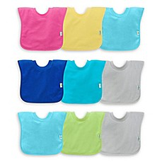 image of green sprouts® by i play® 3-Pack Pull-Over Stay-Dry Bibs in Pink