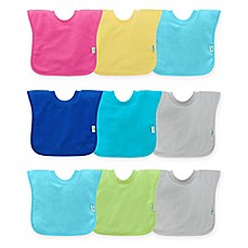 image of green sprouts® by i play® 3-Pack Pull-Over Stay-Dry Bibs in Aqua