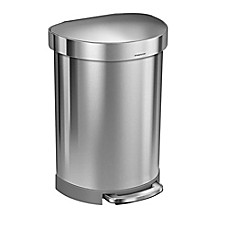 image of simplehuman®  Semi-Round 60-Liter Step-On Trash Can with Liner Rim