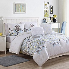 image of VCNY Home Shazia Reversible Comforter Set in Gold