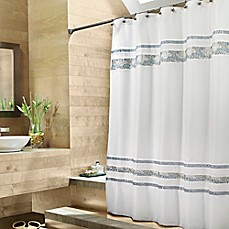 image of croscill spa tile 54inch x 78inch fabric shower curtain