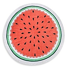 image of Watermelon Round Beach Towel