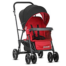 Joovy 174 Caboose Graphite Stand On Tandem Stroller In Red