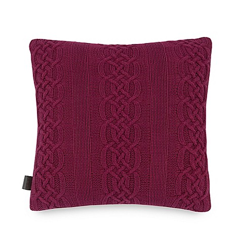 Buy Ugg 174 Cable Knit To Faux Sherpa Square Throw Pillow In