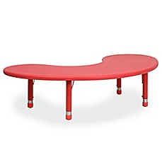 image of Flash Furniture Half-Moon Activity Table