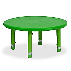 image of Flash Furniture 33-Inch Round Height Adjustable Activity Table
