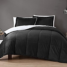 image of vcny home micro mink sherpa reversible comforter set