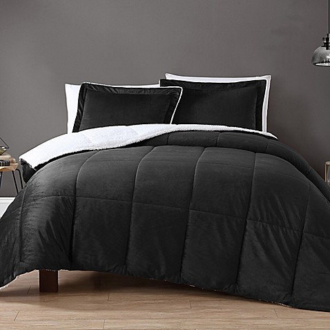 dp amazon micro x mink chloe sherpa twin piece comforter kitchen com long set home chic silver