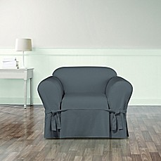 image of sure fit essential twill chair slipcover