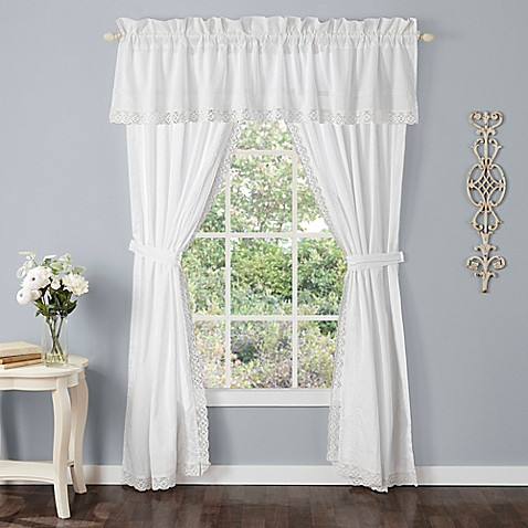 buy laura ashley annabella window valance in white from. Black Bedroom Furniture Sets. Home Design Ideas
