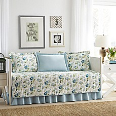 image of Laura Ashley® Peony Garden Daybed Set in Blue
