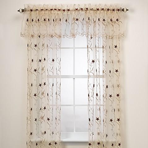 Astor Gold Window Curtain Panel - Bed Bath & Beyond