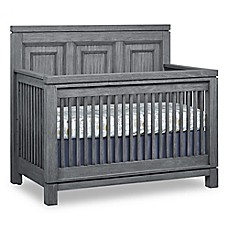 image of Soho Baby Manchester 4-in-1 Convertible Crib in Rustic Grey